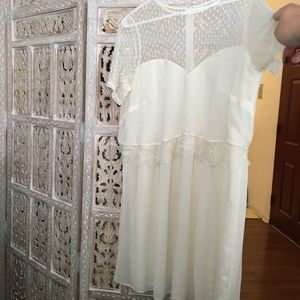 ASOS CURVE Cream Dress